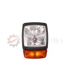 Lampa przednia / drogowa z kierunkowskazem JCB 3CX / 4CX (Lewa)