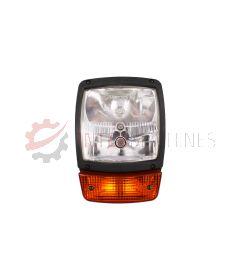 Lampa przednia / drogowa z kierunkowskazem JCB 3CX / 4CX (Prawa)